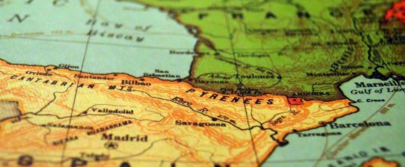 Abreviaturas de países y provincias en el tacógrafo digital