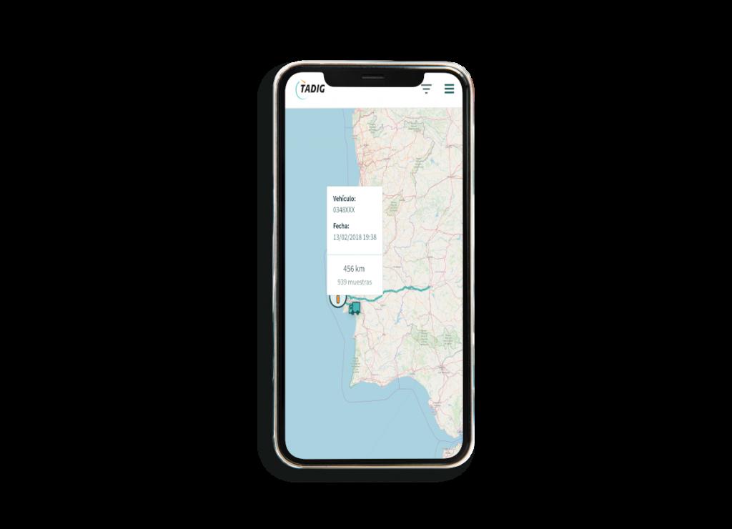 GPS en APP TADIG tiempos de conducción y descanso - localización de flotas